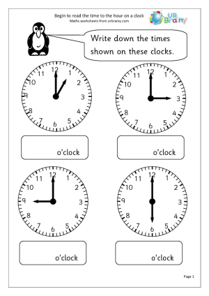 Worksheets To Help Learn The Time HttpUrbrainyComGet