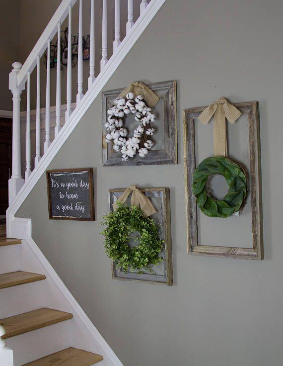 Farmhouse wreath, Gallery Wall Decor, Rustic Decor, Fixer Upper ...