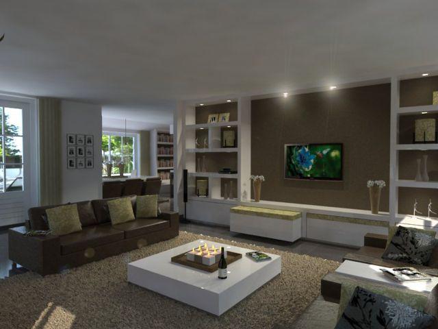 moderne interieur voorbeelden woonkamer pinterest