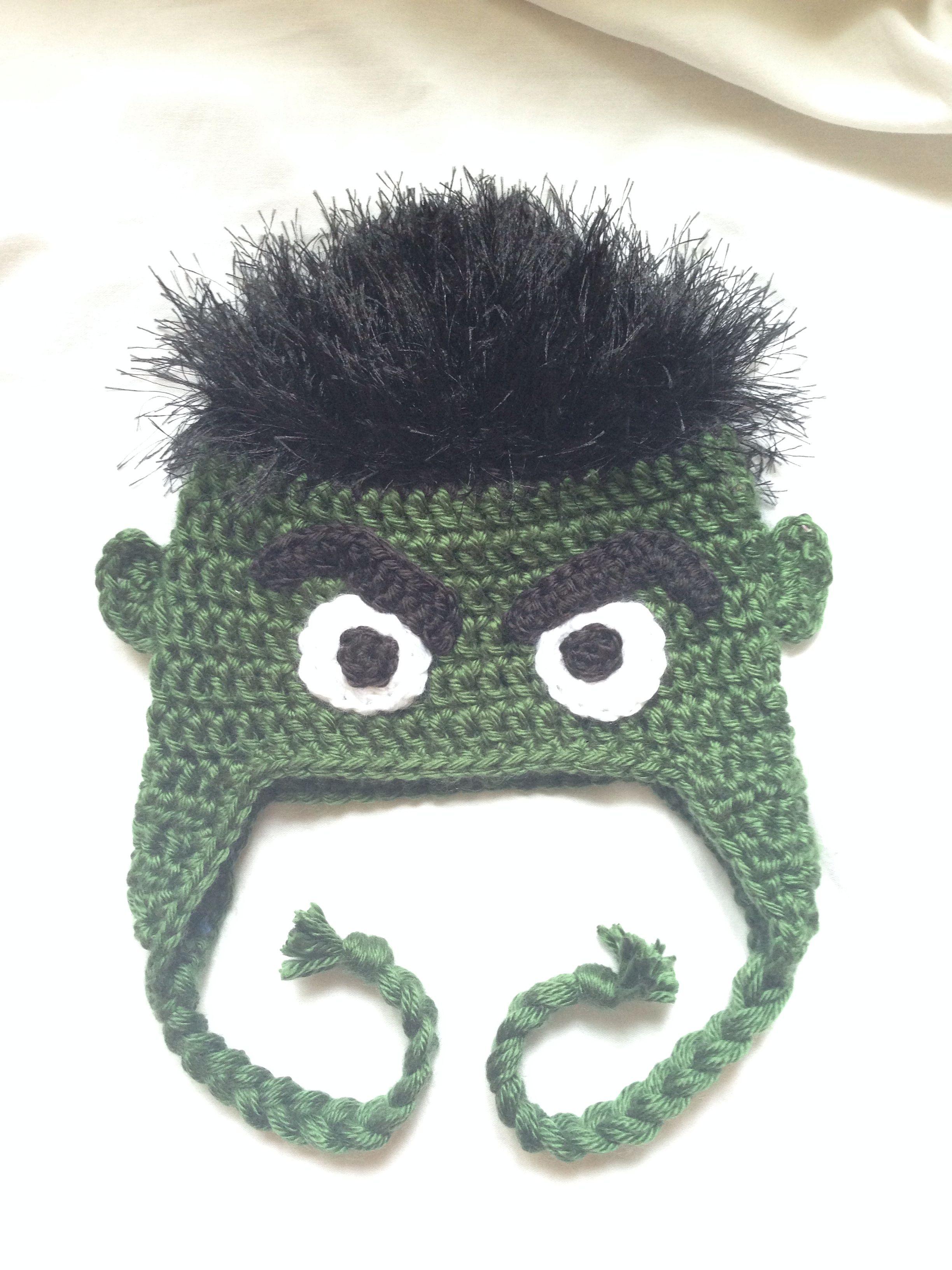 Crochet hulk hat  9dff190b6b7