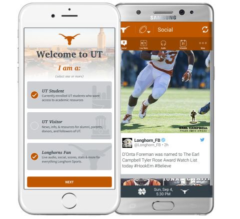 University Of Texas And SportsLabs Unveil New Unifying Mobile App For Longhorn Fans And Students to better navigate the campus and content.