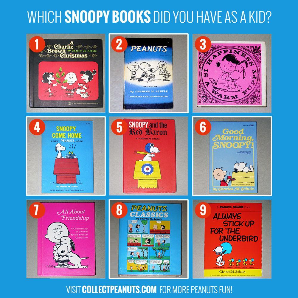 Peanuts Books Media Collectpeanuts Com Snoopy Books Comic Book Covers