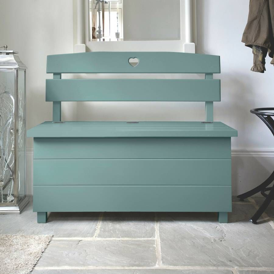 Hallway storage and seating  Pine Storage Bench Double Seat Choice Of Colours  benches