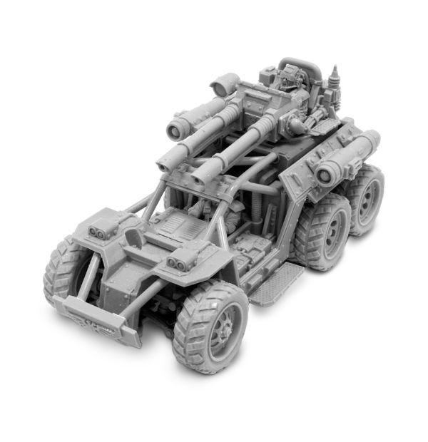 warhammer 40k Astra Militarum Style Fast Attack Buggy Jeep