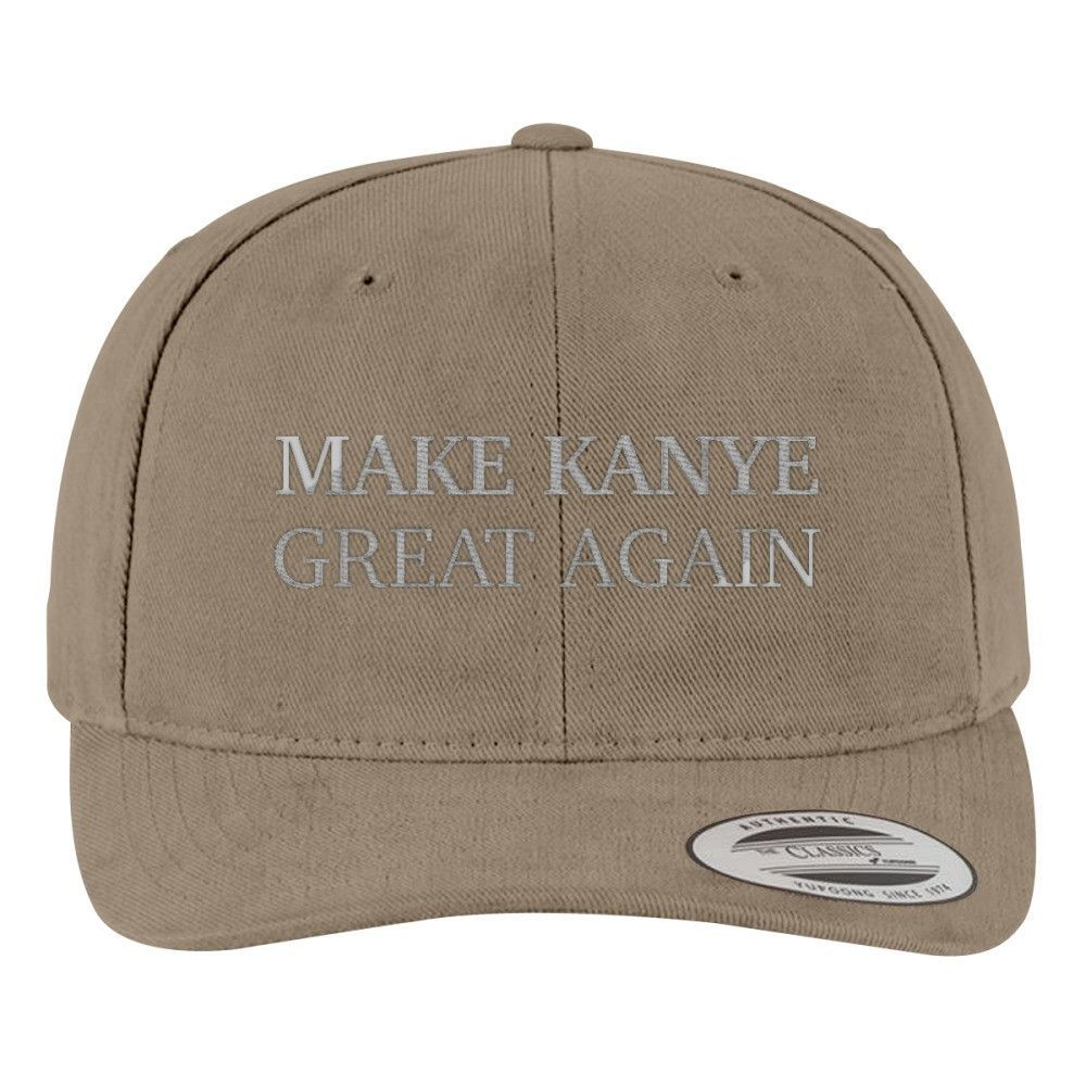 Make Kanye Great Again Brushed Embroidered Cotton Twill Hat