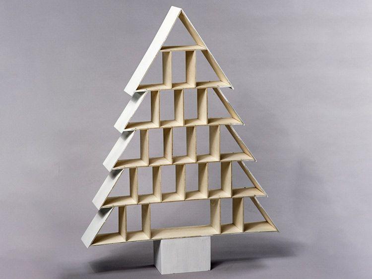 anleitung: tannenbaum-adventskalender aus holz basteln via dawanda, Wohnideen design