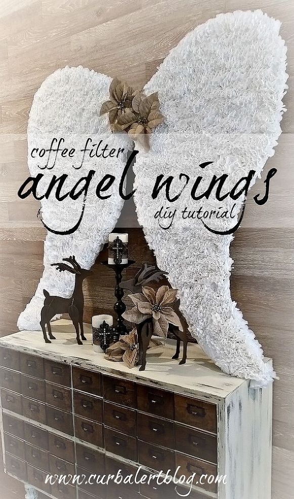 How to make coffee filter angel wings