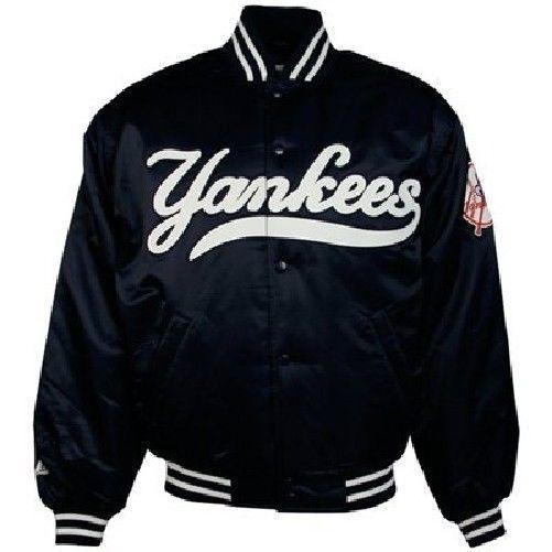 New York Yankees Satin Jacket 4xl Authentic Collection Navy Mlb Majestic Satin Jackets New York Yankees Jackets