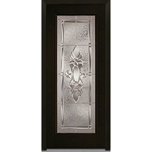 National Door Z004164R Fiberglass Right Hand Prehung In Swing Entry Door,  Heirloom Master Decorative