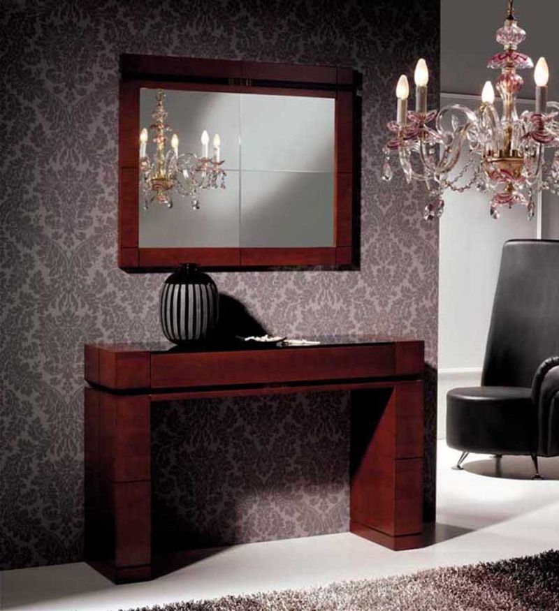 Recibidor consolas de madera recibidor decoracion - Muebles consolas recibidores ...