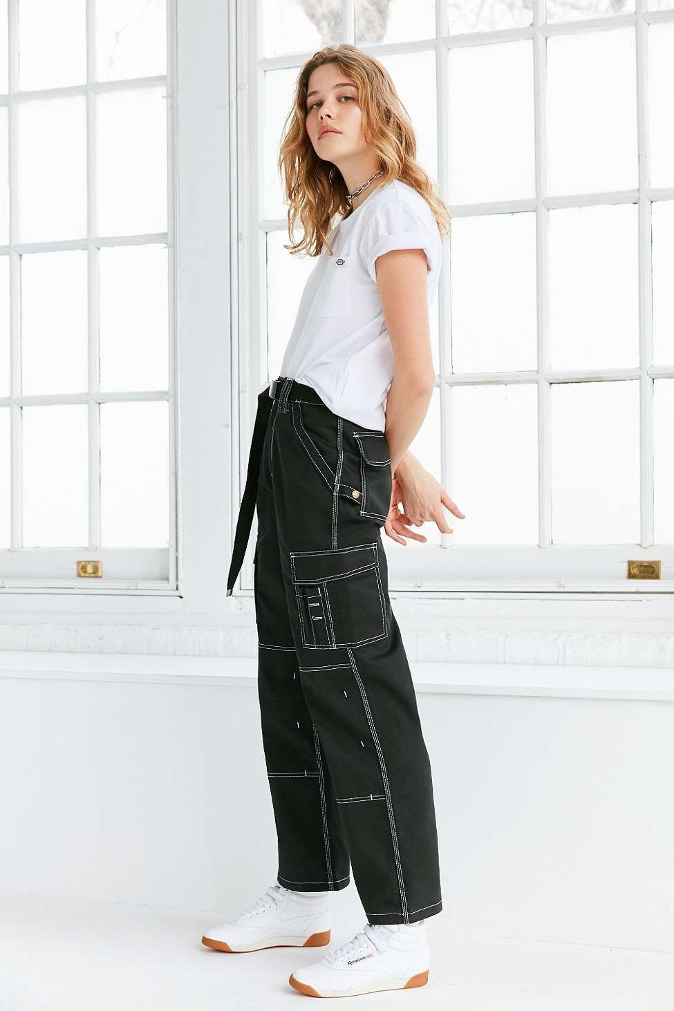 464f0763 Dickies X UO Carpenter Contrast-Stitching Trousers | bottoms | Pants ...