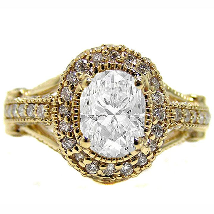 Oval Diamond Legacy Style Engagement Ring 0.80 tcw. In 14K Yellow Gold I Love this!!!!!