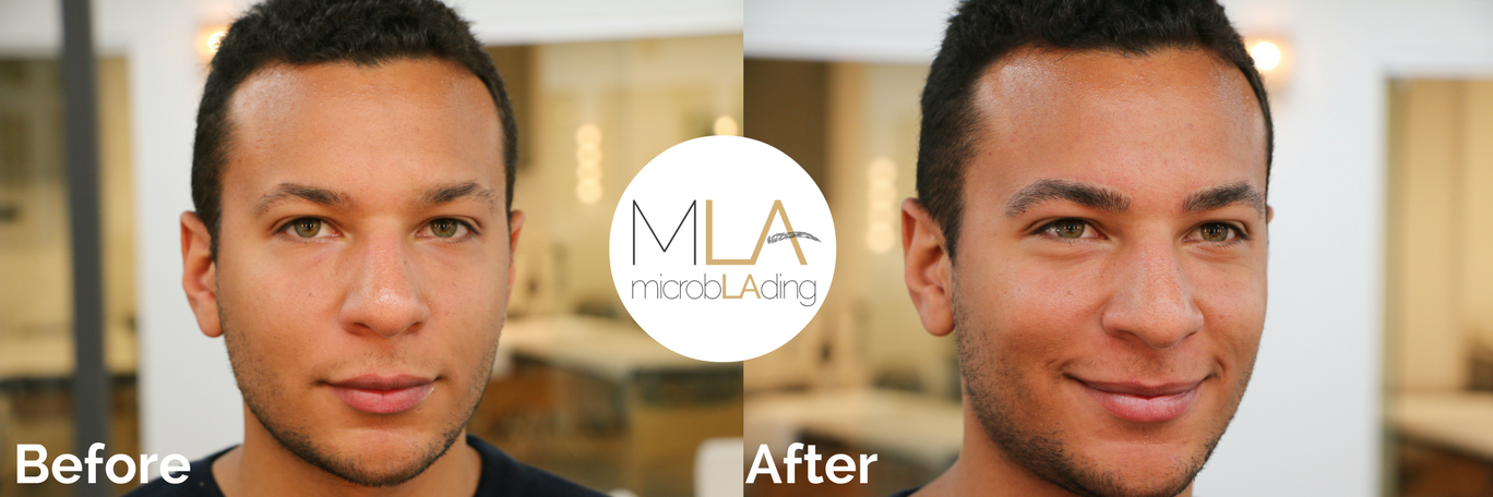 Microblading for Men Before and After Photo 4   Awesome and