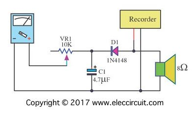 analog vu meter schematic electronic projects circuits meters rh pinterest com