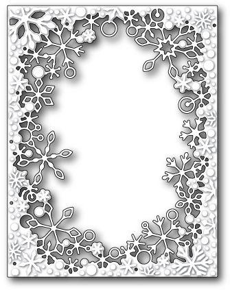 Crystal Snowflake Corner Frame metal die Poppystamps dies 1550 Christmas,winter