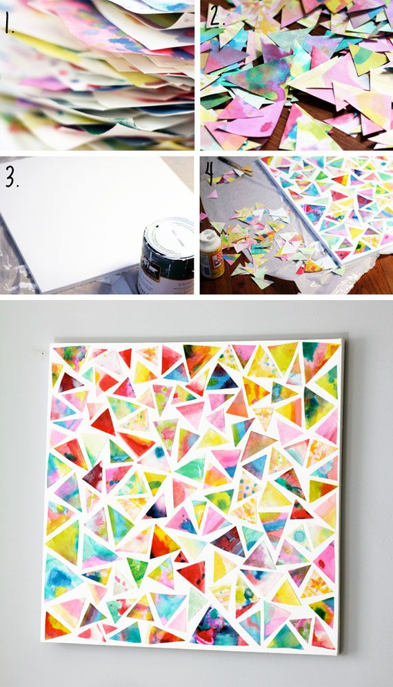 DIY CHILDREN'S WATERCOLOR ART (FOR A RAINY DAY)