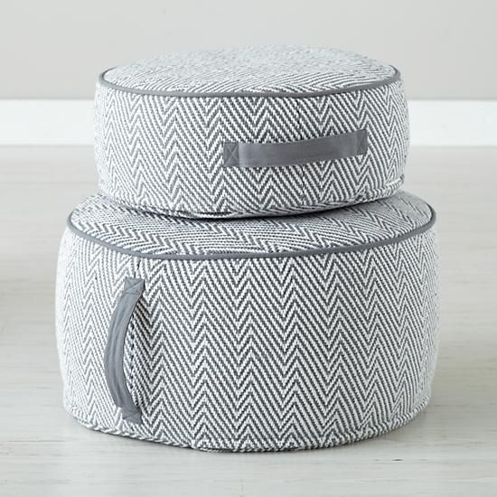 the land of nod grey herringbone pouf for the home pinterest herringbone gray and poufs. Black Bedroom Furniture Sets. Home Design Ideas