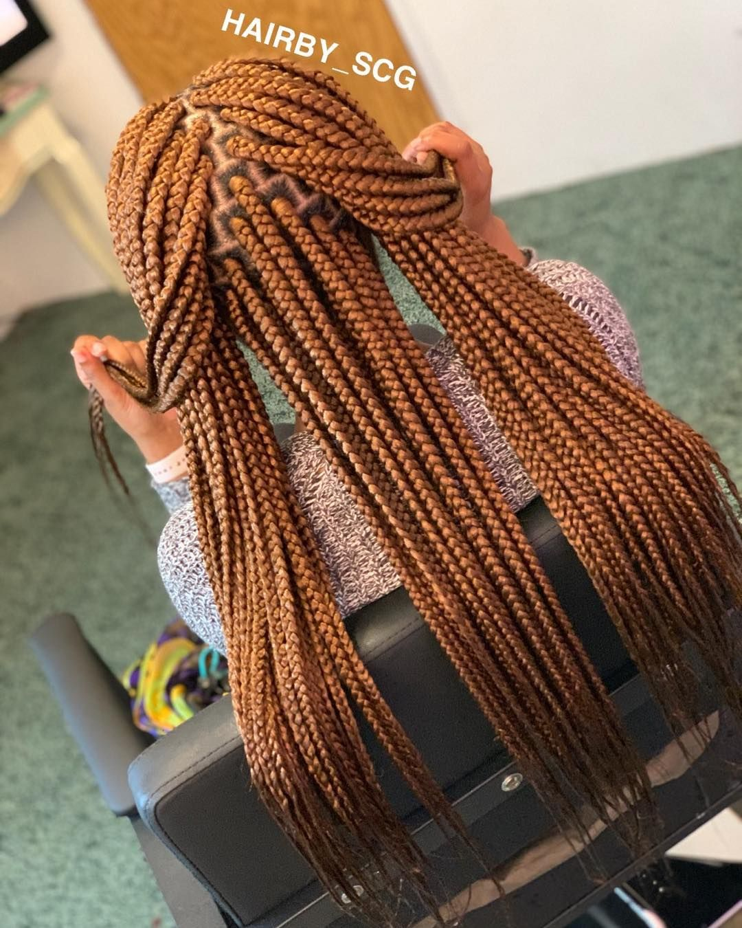 "BraidSlayer on Instagram: ""Long box braids #Parts #TriangleBraids #trianglepart #boxbraids #braids #scBraider #boxbraid #small #braids #scbraider #plaits #cleanparts…"" #longboxbraids"