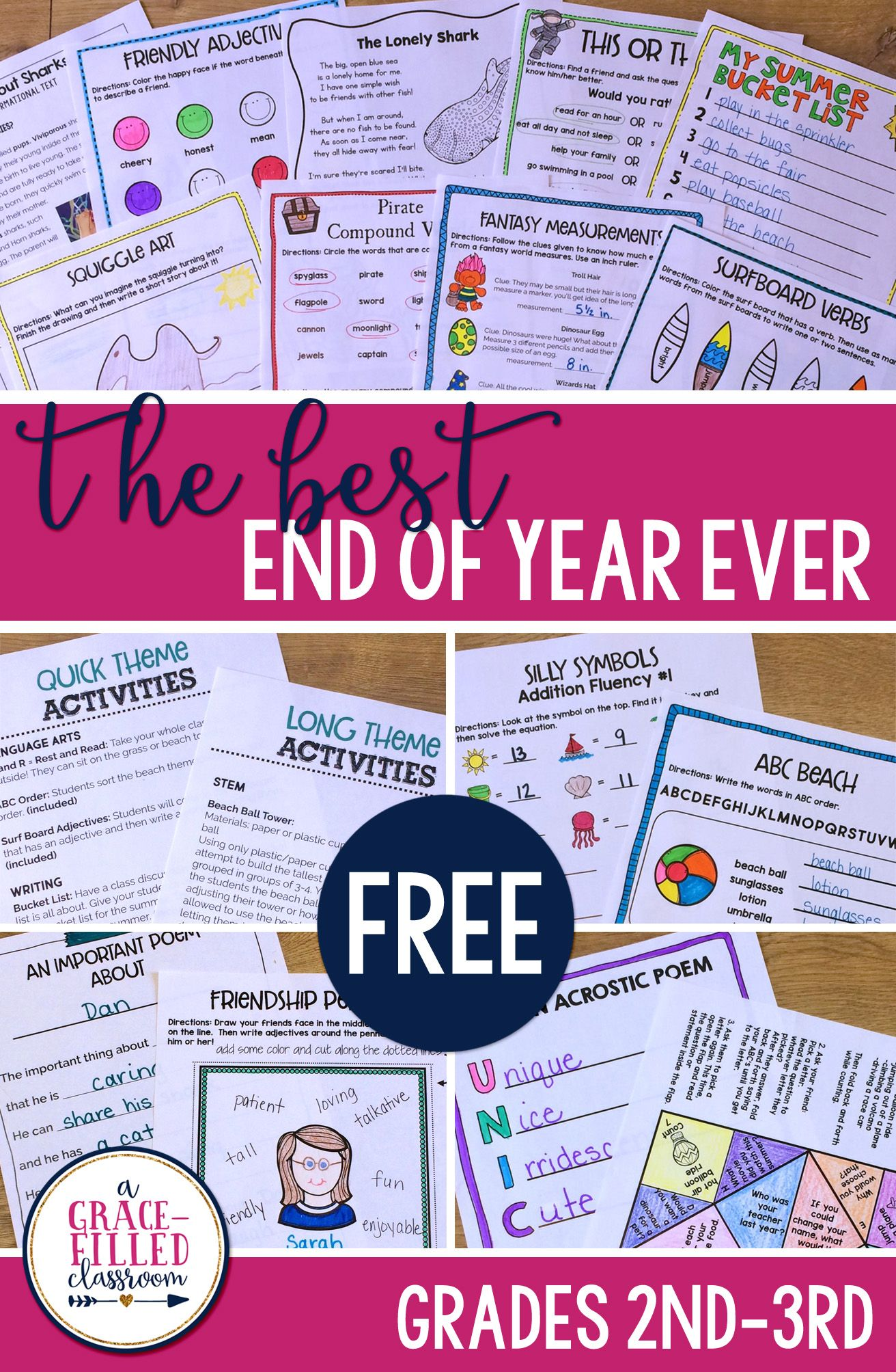 Free End Of The Year Activities For 2nd And 3rd Grade