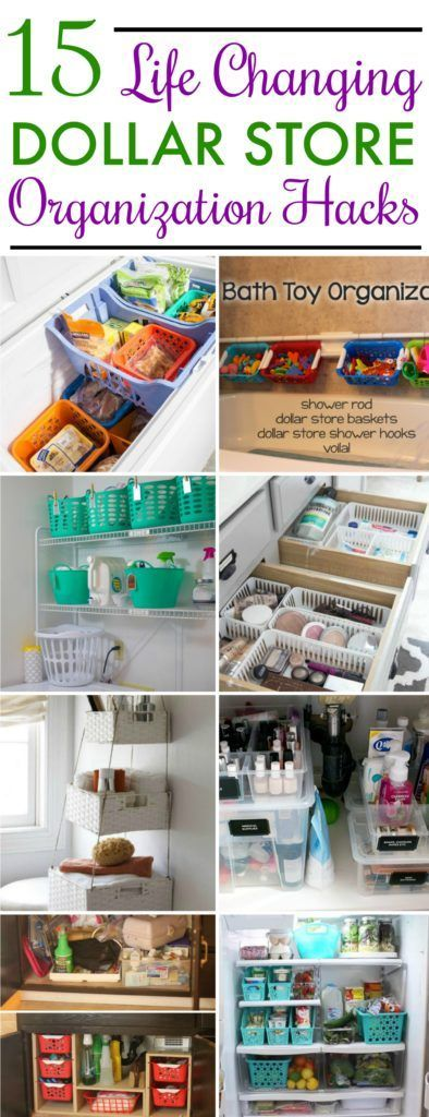 15 Dollar Store Organization Ideas For Every Area In Your Home 15 Dollar Store Dollar Stores