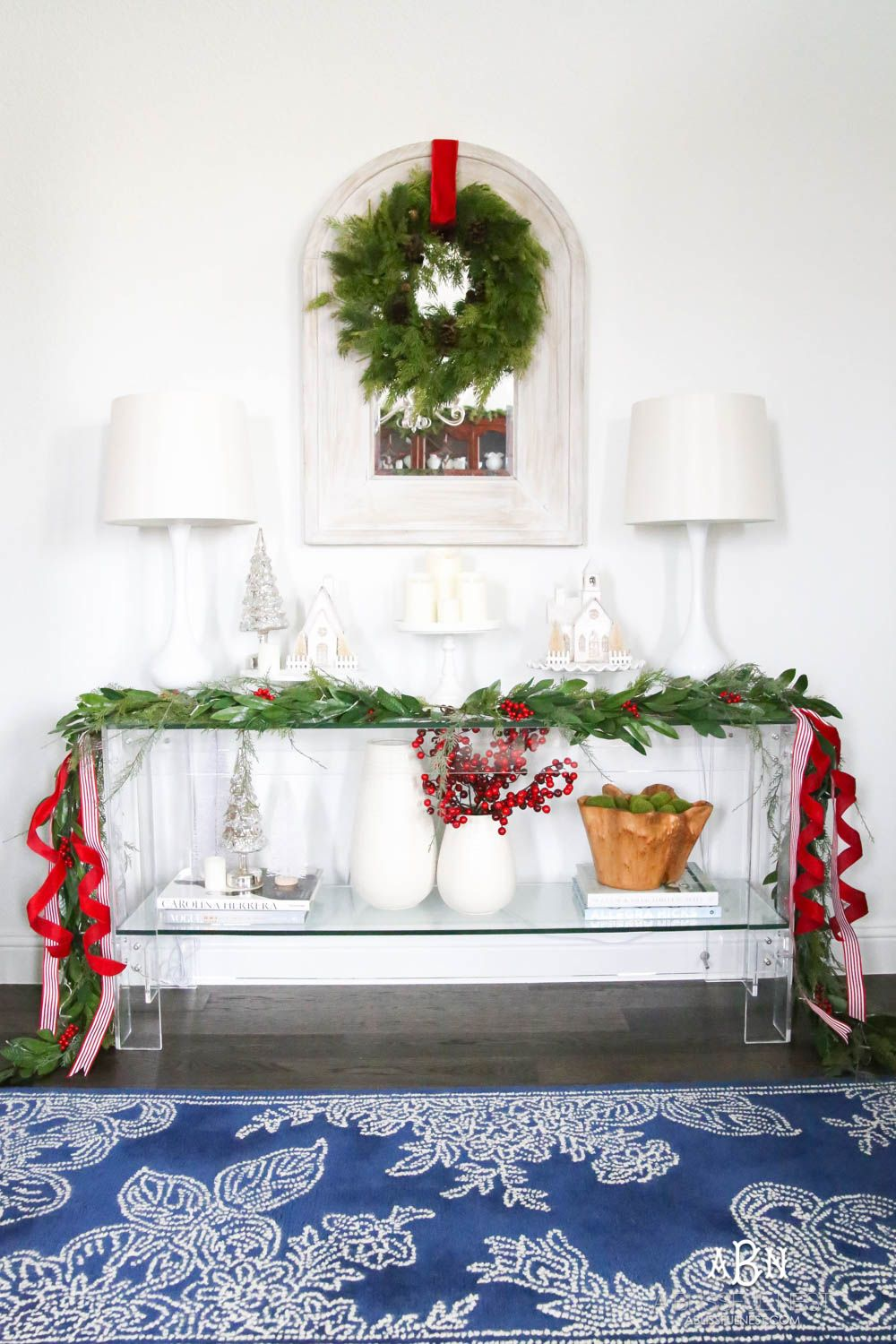 Classic Christmas Front Porch and Entryway Classic