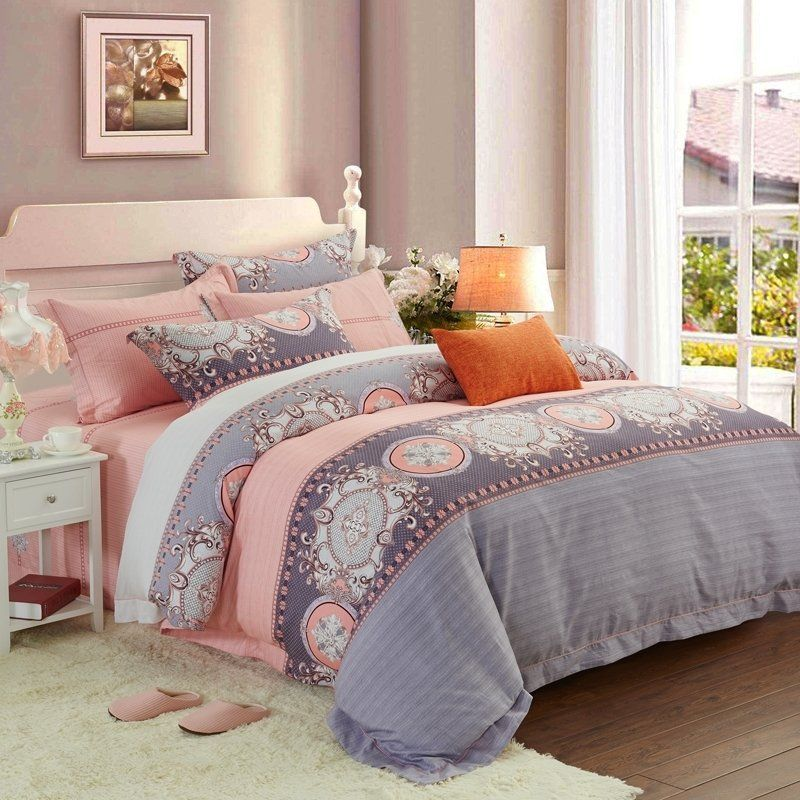 Coral And Gray Bedroom: Moroccan Twin Size #Bedding #Bedspread #Bedroom Sets