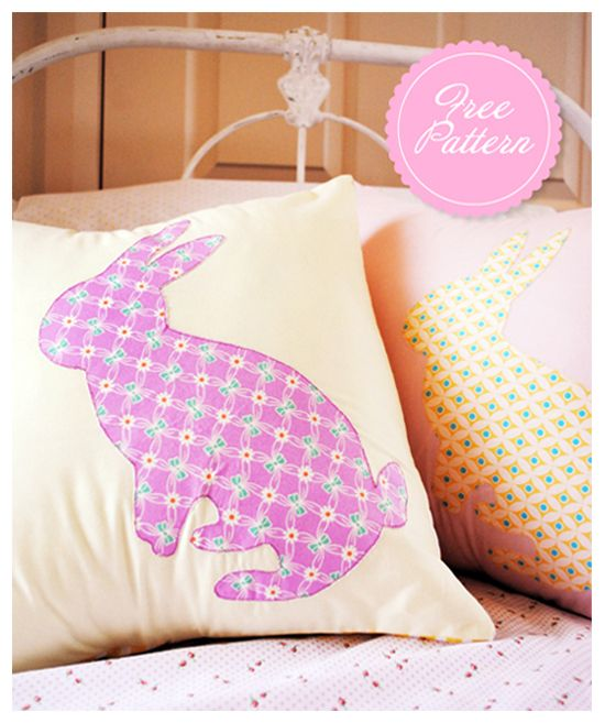 Cushion Cover Sewing Pattern Free: 10 Adorable DIY Pillow Tutorials   Bunnies  Bunny and Sewing patterns,