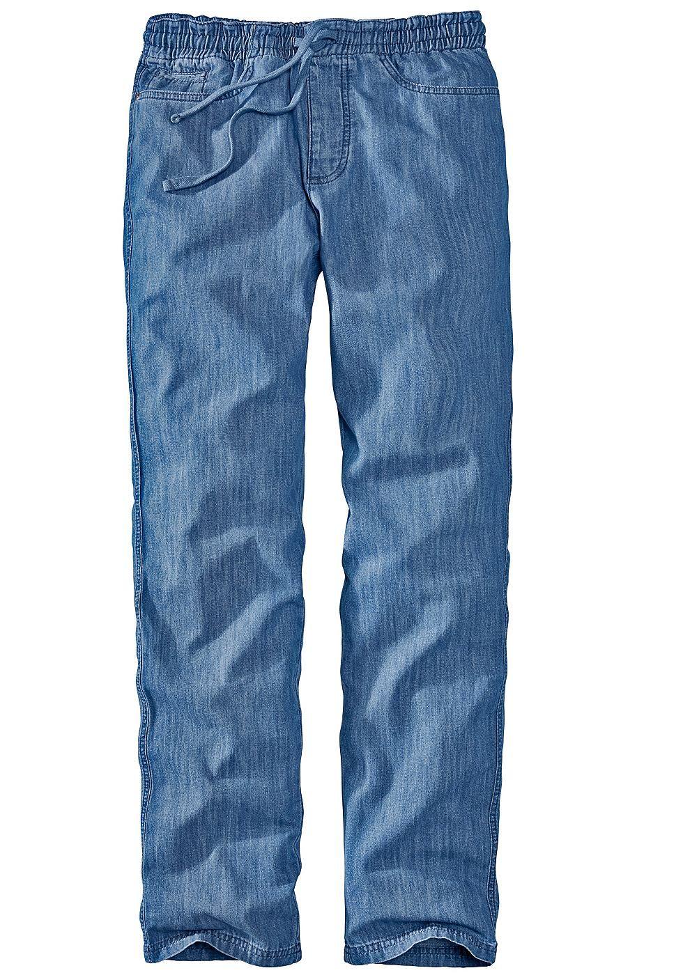 Produkttyp , 5 Pocket Jeans, |Stil , Casual, |Bund+Verschluss , Reißverschluss, |Vordertaschen , Seitliche Eingrifftaschen, |Gesäßtaschen , Mit aufgesetzten Taschen, |Saum , durchgesteppt, |Material , Baumwolle, |Materialzusammensetzung , 100% Baumwolle., |Pflegehinweise , Maschinenwäsche, | ...