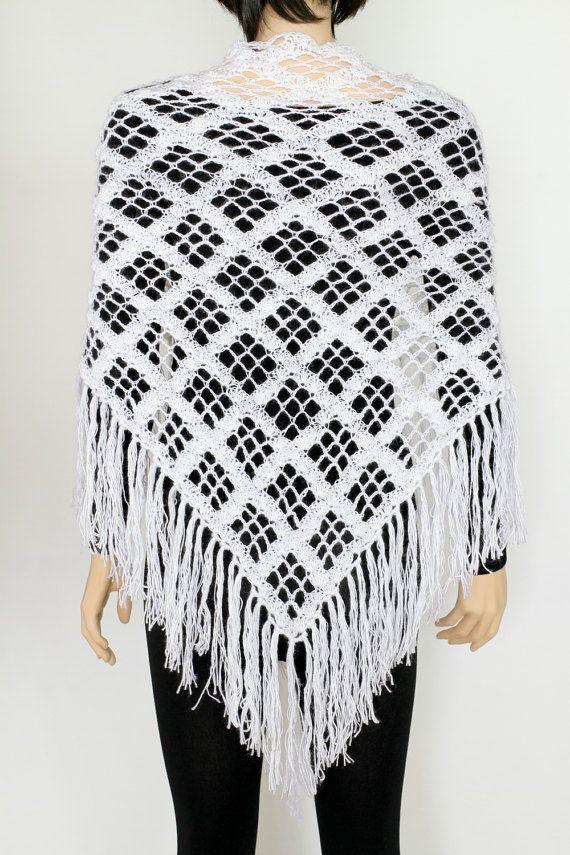 White Wedding shawl Wraps shawls White shawl Lace Crochet shawl ...