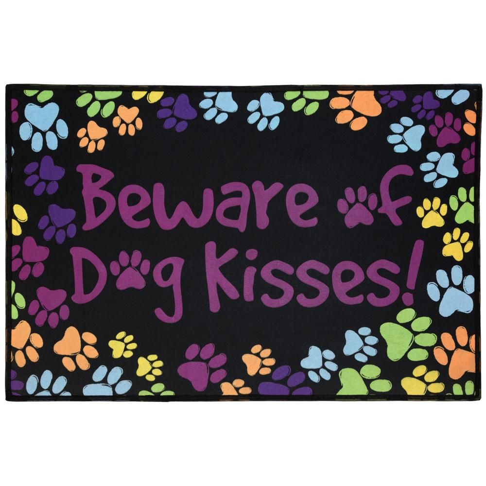 Beware of Dog Kisses Indoor/Outdoor Mat it Funds 35 bowls of food #shopping