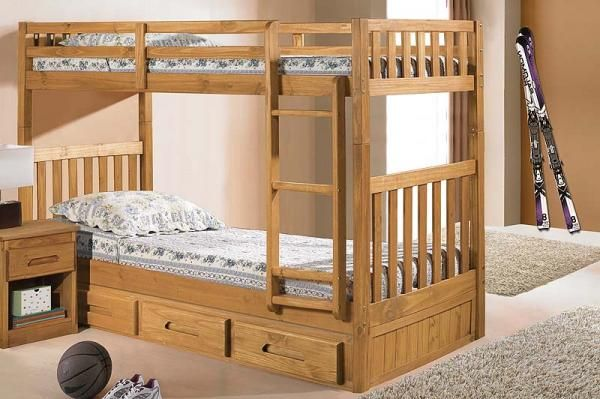 Twin Over Twin Bunk Bed Can Down Stack Into Two Twin Beds Will