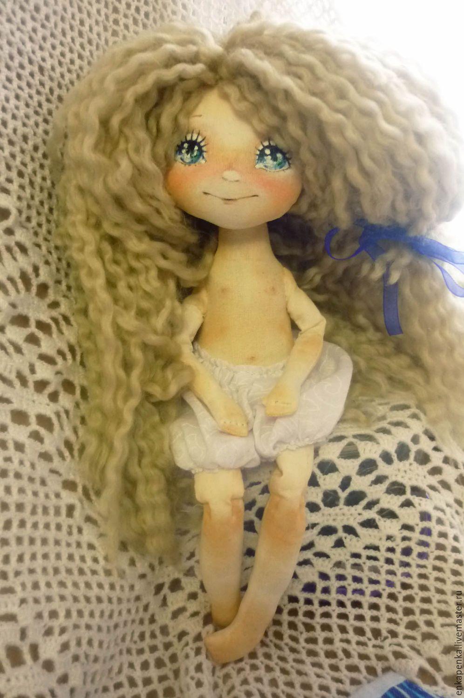 Купить Кукла игровая - синий, кукла ручной работы, игровая кукла, кукла интерьерная