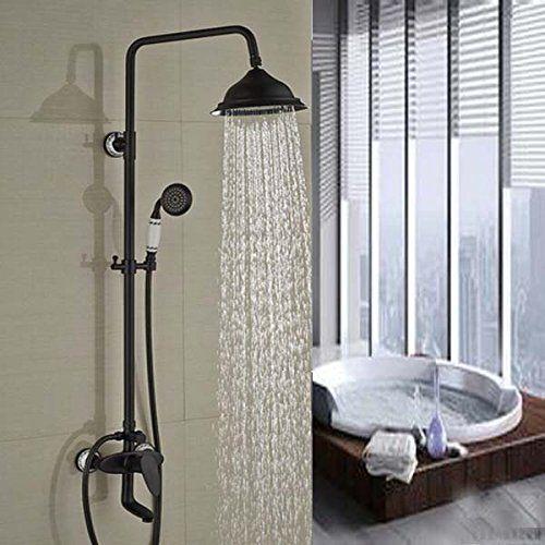 Oil Rubbed Bronze Shower Faucet Set Mixer Tap 8 Rain Shower Head ...