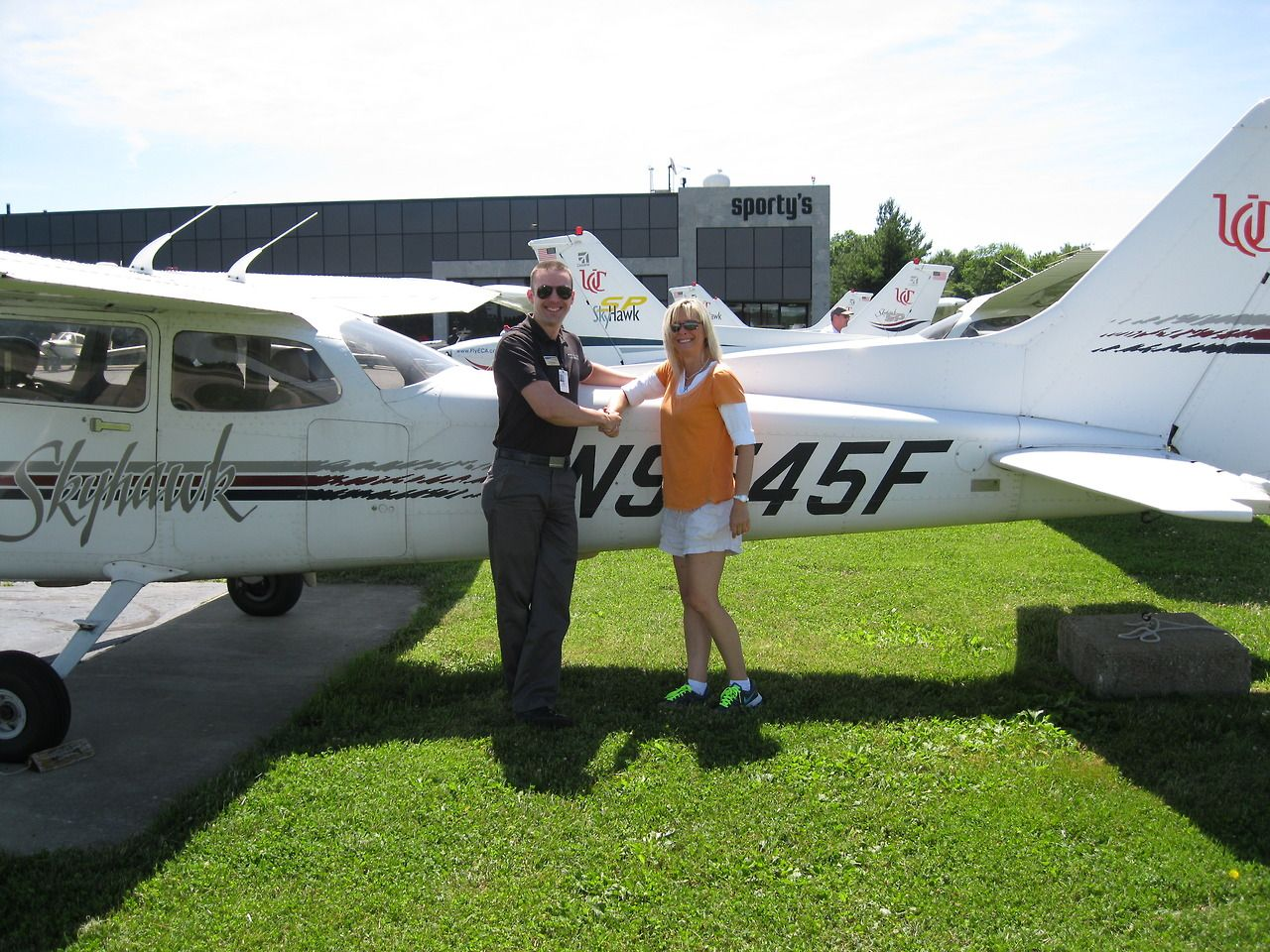 Michelle Hay soloed in a singleengine aircraft on June 14