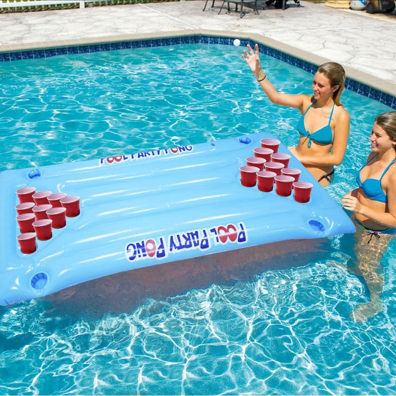 Pin On Inflatable Pool Beer Pong Table