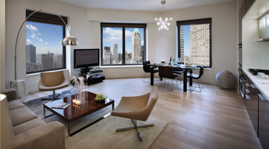 Fidi Apartment With Amenities Galore On Wall Street Studio To 4 Bedroom Units Ranging From 675k To 9 2m 75 Wall Street Stylish Home Decor Home Decor