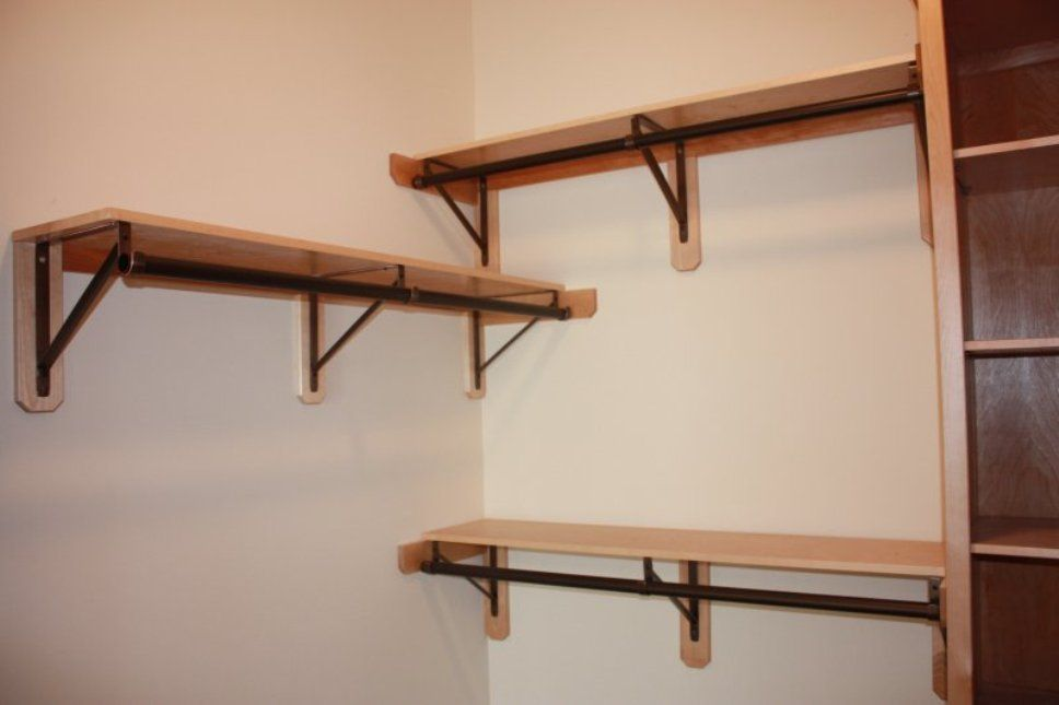 Closet Rod Bracket For Angled Wall