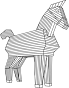 Trojan Horse Coloring Page
