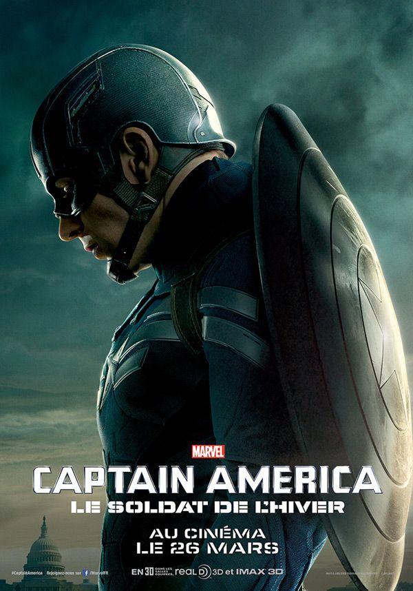 Captain America 2 Les Affiches De Chris Evans Scarlett Johansson Et Samuel L Jackson Devoilees Captain America Affiche Captain America Marvel Captain America