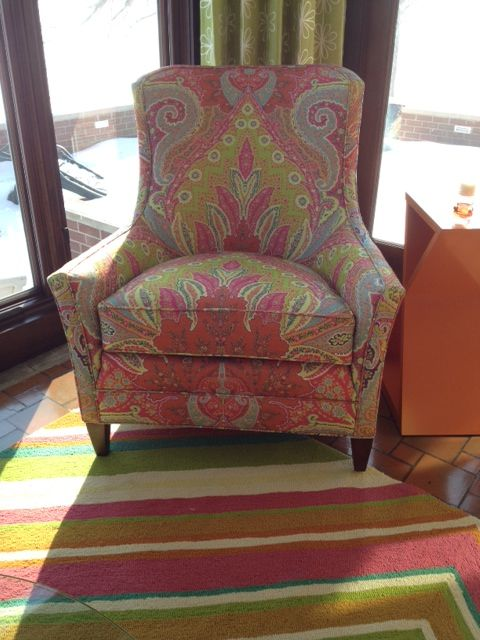 Who S Afraid Of A Large Print Fabric On A Chair Client S Sunroom