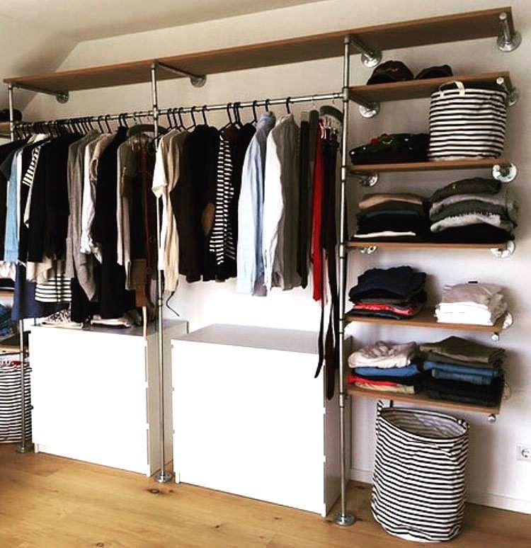 Platz Optimal Ausgenutzt Mit Einer Maßgefertigten Kleiderstange Regal Aus Stahlrohr Rohre Tempergussings Design