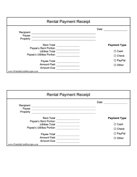 Perfect For Rent Payments Between Multiple Roommates This Printable Receipt Covers One Portion Of The Monthly Rent Receipt Receipt Template Business Template
