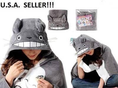 NEW-My-Neighbor-Totoro-Cloak-Fleece-Blanket-Hoodie-Sweater-Throw