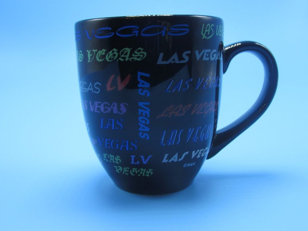 Vintage Las Vegas Nevada Multi Color Black Coffee Mug Free
