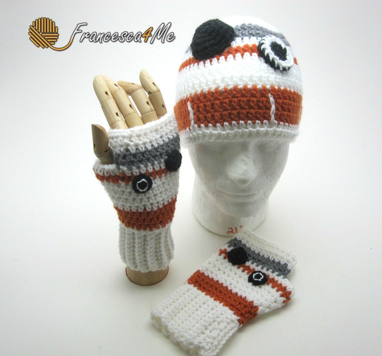 BB-8 Hat and Glove Set/Crochet by Francesca4me on Etsy | knitting ...