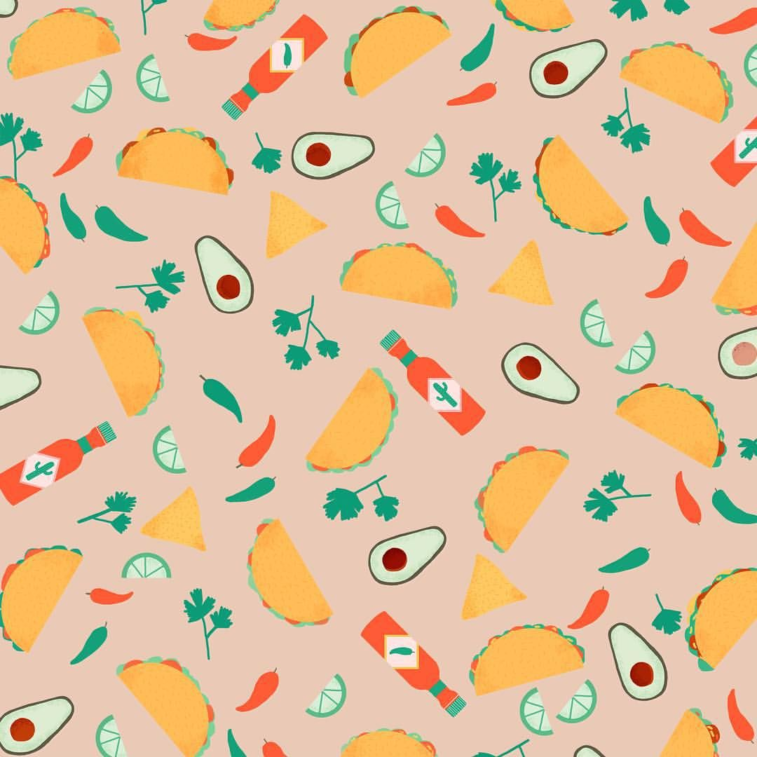 Naomiwilkinson Taco Drawing Taco Wallpaper Food Background Wallpapers