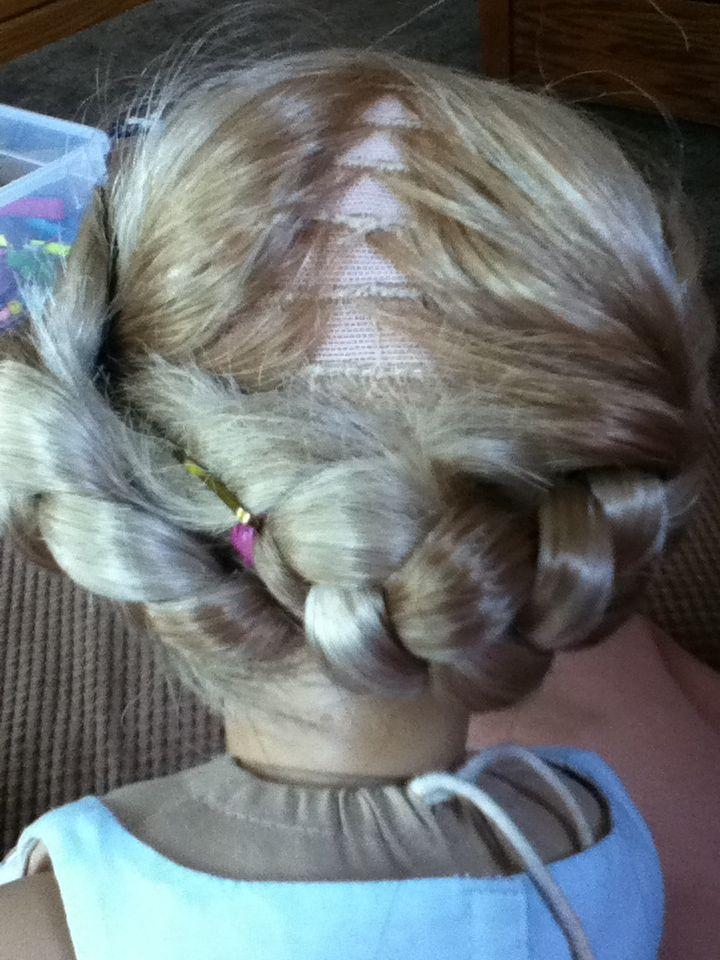 Easy doll hairstyle hair styles doll hair hairstyle
