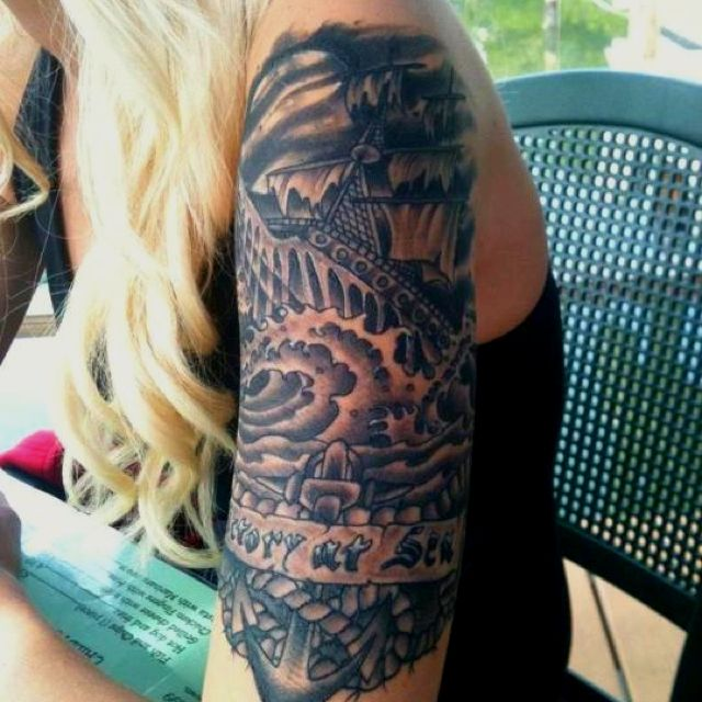 "Tattoo Studio Ideas Pinterest: My ""Victory At Sea"" Tattoo, Done By Jason Fritze At Webber"