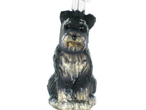 Schnauzer, by Old World Christmas. A hand painted, glass, Christmas ornament.