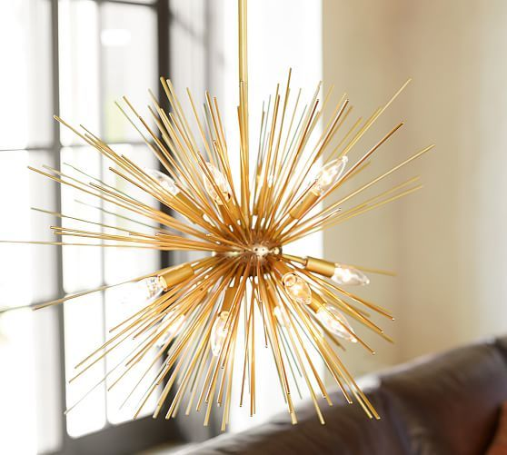 Explosion Chandelier Chandelier Wood Lamps Pottery Barn